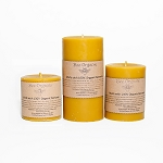 Large Organic Beeswax Pillar Candle Set