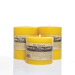 Medium Organic Beeswax Pillar Candle Set