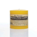 Small Organic Beeswax Pillar Candle 3