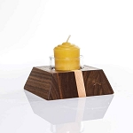 Mini Votive / Tea light Walnut & Maple Candle Holder