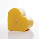 Heart Candle Made w/ Organic Beeswax