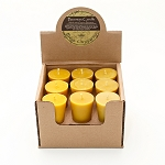 Organic Beeswax Votive Candle Display box of 18