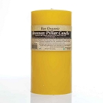 Made w/ Organic Beeswax Pillar Candle Large 3