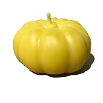 Large Pumpkin Made w/ Organic Beeswax - Qty 1