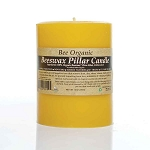 Made w/ Organic Beeswax Pillar Candle Medium 3