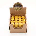 Made w/ Organic Beeswax Mini Votive Candles Set of 4