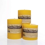 Made w/ Organic Beeswax Large Pillar Candle Set
