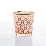 Medium Rose Gold Candle Made w/ Organic Beeswax