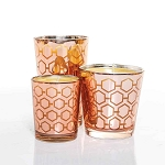 Rose Gold Candle Set Made w/ Organic Beeswax