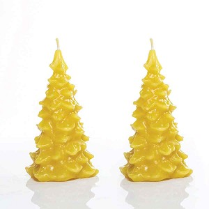 Pine Tree Set Made w/ Organic Beeswax Candles