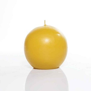 Sphere Candle Made w/ Organic Beeswax Candle 13oz