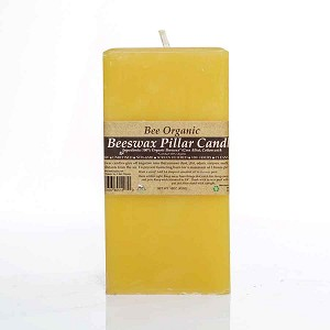 Large Square Pillar Made w/ Organic Beeswax